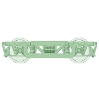 TRN50 TRK50 TRF50 TRN38 台車 各2両【武蔵模型工房 Nゲージ 鉄道模型】