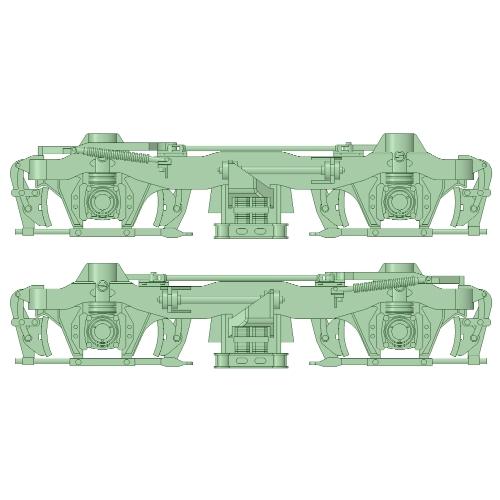 FS-10台車 初期型 5両分【武蔵模型工房 Nゲージ 鉄道模型】