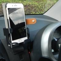 旧型パッソ iPhone6/7plus スマホ立て(半径144mm曲面用)