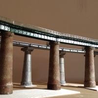 1/150 Nゲージ コンクリート橋脚(2本セット) 上越線 毛渡沢橋梁イメージ