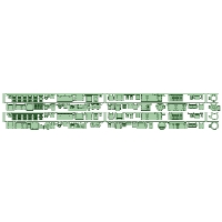 8570F+8577F 2編成 4両分 床下機器【武蔵模型工房 Nゲージ 鉄道模型】
