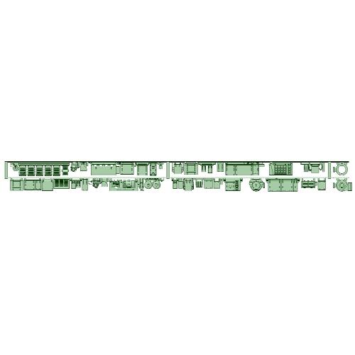 8577F 2両分 床下機器【武蔵模型工房 Nゲージ 鉄道模型】