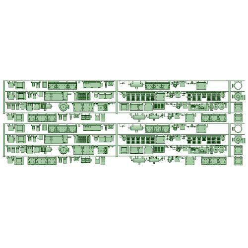 81107F+81111F 8両分 床下機器【武蔵模型工房 Nゲージ 鉄道模型】