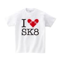 I LOVE SK8 Tシャツ M ホワイト