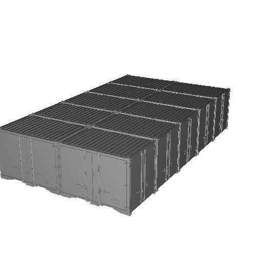 12ft L字開き背高コンテナ 初期・後期5個ずつ 10個入りセット