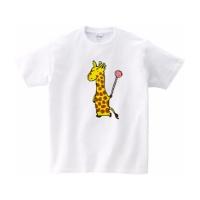 キリンとキャンディーのTシャツ M ホワイト