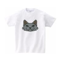 不思議なネコのイラストのTシャツ