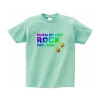 猫好きの為の妄想ロックフェスTシャツ S アイスグリーン