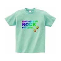 猫好きの為の妄想ロックフェスTシャツ M アイスグリーン