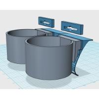 ドリンクホルダーアダプタ(ツインタイプ-3) DJ-DEMIO用:カラー造形対応