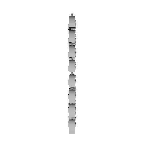 Nゲージ用入換信号機(点灯化用)32連(改1)