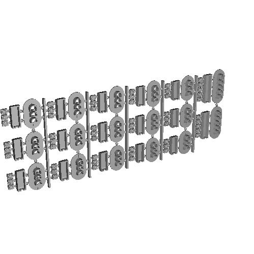 Nゲージ用信号機3灯(×12)5灯(×2)信号機(アソート・点灯化可能/ダミー利用可能)