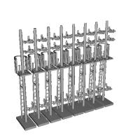 Nゲージ用信号機付属品一式8本セット(第3次改良品)