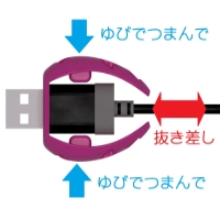 Sakura - 充電ケーブルキャッチャー iPhone用