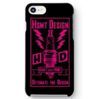 HSMT deign PLUG iPhone 7 ケース BLACK/PINK