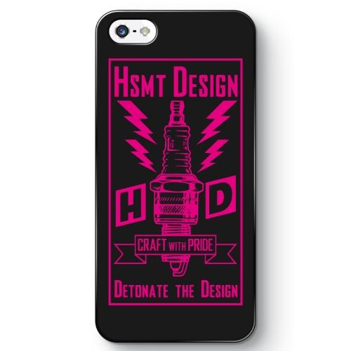 HSMT deign PLUG iPhone SE BLACK/PINK
