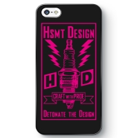 HSMT deign PLUG iPhone SE BLACK/PINK