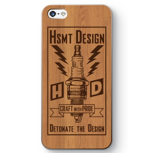 HSMT deign PLUG iPhone SE WOOD/BROWN