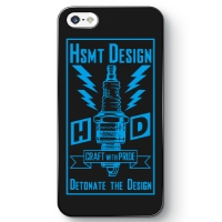 HSMT deign PLUG iPhone SE BLACK/LIGHT BLUE