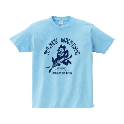 HSMT design Devil Tシャツ L ライトブルー