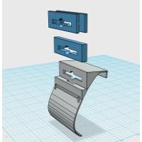 ドリンクホルダーアダプタ用スペーサー:カラー造形対応