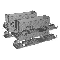 Nゲージ(1/150) 鉄道省 三軸無蓋車 トキ900  (4個セット)(旧)