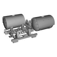 1/150 鉄道模型用 12ft系タンクコンテナキット 2ケ入り