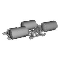 1/150 鉄道模型用 12ft系タンクコンテナキット 3ケ入り