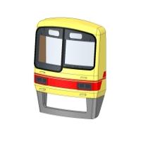 神戸電鉄2000系(5000系) 前面用クリアパーツ(2編成分)