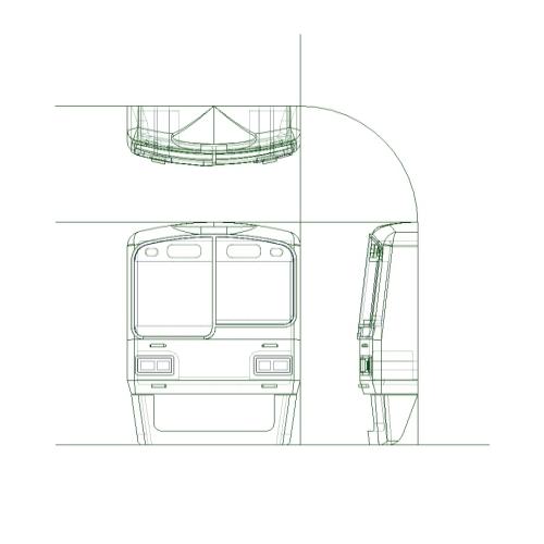 神戸電鉄2000系(5000系)タイプ 前面パーツセット