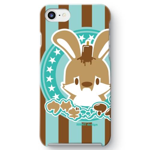 うさぎさん iPhone 7 ケース チョコミント