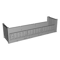 31ft無蓋コンテナ 側面3扉タイプ 一体成形品