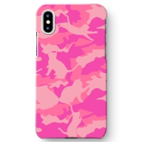 CAT CAMO PINK1 iPhone X ケース