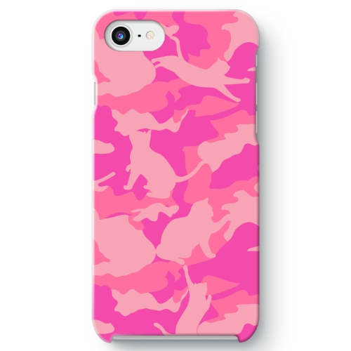 CAT CAMO PINK1 iPhone 8 ケース