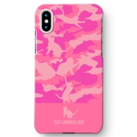 CAT CAMO HALF iPhone X ケース