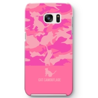 CAT CAMO HALF Galaxy S7 edge ケース