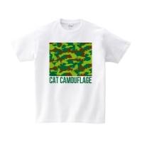 CAT CAMO BOX GREEN Tシャツ S ホワイト
