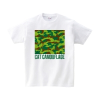 CAT CAMO BOX GREEN Tシャツ M ホワイト