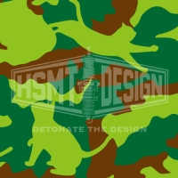 CAT CAMO BOX GREEN Tシャツ L ホワイト