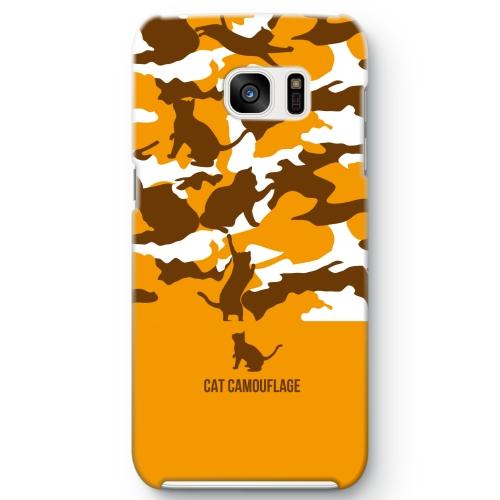三毛猫カモ Galaxy S7 edge ケース