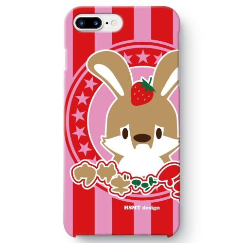 うさぎさん iPhone 8 Plus ケース イチゴ