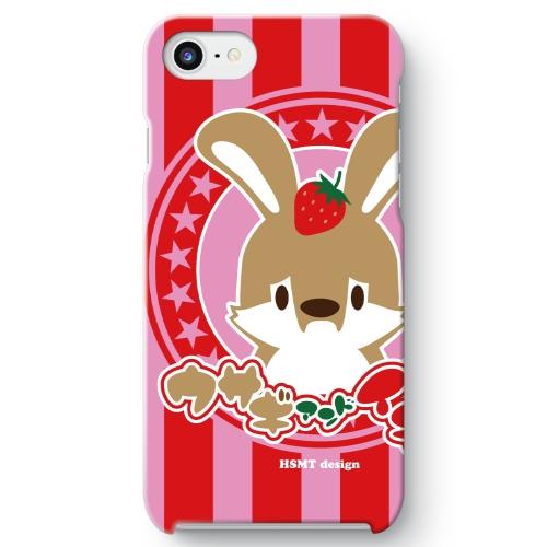 うさぎさん iPhone 8 ケース イチゴ