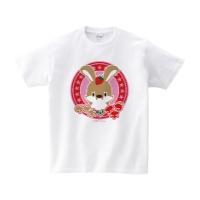 ウサギさんとイチゴ Tシャツ S ホワイト