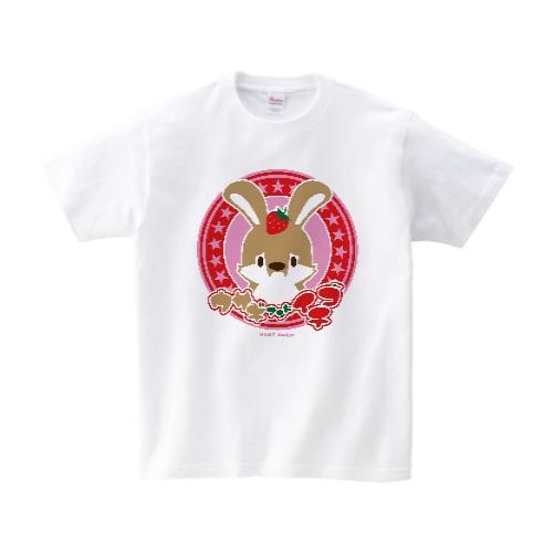 ウサギさんとイチゴ Tシャツ M ホワイト