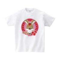 ウサギさんとイチゴ Tシャツ XL ホワイト