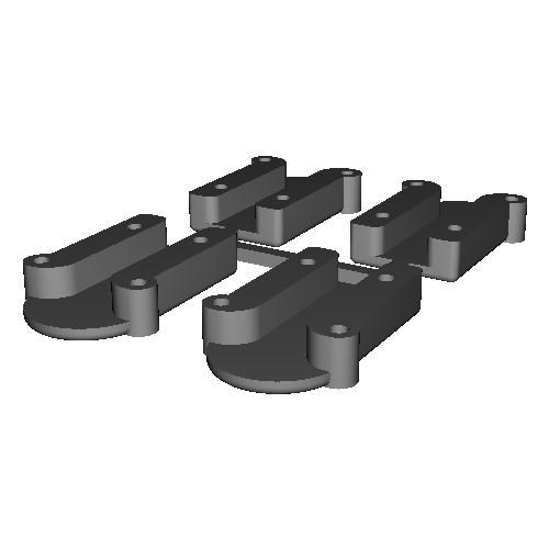 KHR-3HV用ケーブルガイド(4個セット) v1.stl