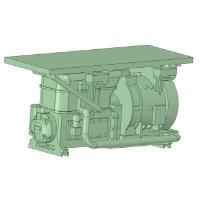 C-0202:C2000M型コンプレッサー 20個【武蔵模型工房 Nゲージ 鉄道模型】