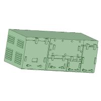 C-1201 MBU1600型コンプレッサー 10個【武蔵模型工房 Nゲージ 鉄道模型】