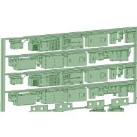 NK20-11 2000系4連床下機器【武蔵模型工房 Nゲージ 鉄道模型】