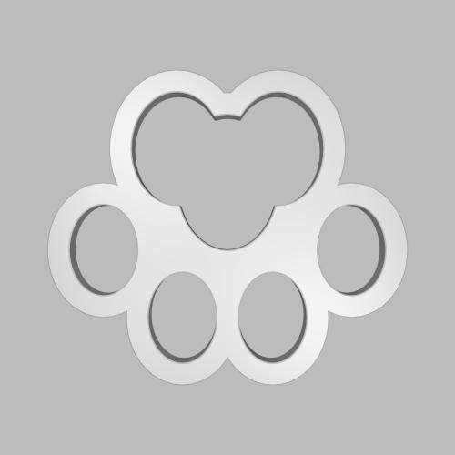 猫の肉球型オブジェ 32_32_2-3_s48_vec